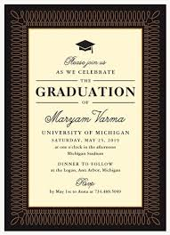 Graduation Dinner Invitations Certified Classic
