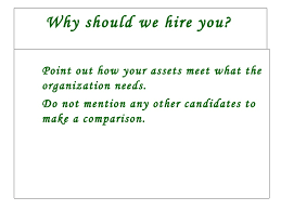 Why Should I Hire You Answer Examples 6 7 Why We Should Hire You