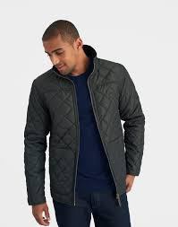 Mens Quilted Jacket | Jackets Review & Retreat Black Olive Textured Quilted Jacket | Joules UK … Adamdwight.com