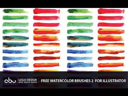 Free Watercolor Brushes For Illustrator Part 2 Youtube