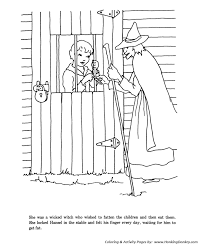 Small Picture Hansel and Grettle fairy tale story coloring pages Hansel and