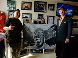 More from ManCave Memorabilia: I'm posing with Vincent Badrok Concepcion  who's displaying a great portrait he did of Mike Tyson - a photo on  Flickriver