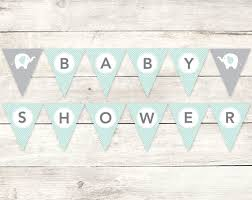 baby shower banners baby shower banner printable diy bunting banner elephant sage