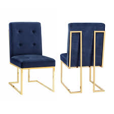 tov furniture akiko navy velvet chairtovd  the home depot