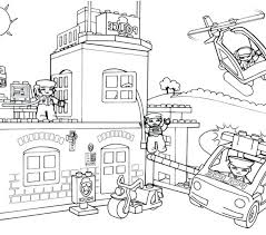 Lego Cowboy Coloring Pages Free For Kids Chronicles Network