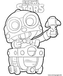 Free printable stars of various sizes to color and use for crafts and other learning activities. Brawl Stars Carl Coloring Pages Printable