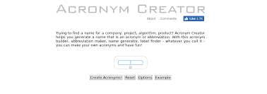 how to create an acronym best acronym