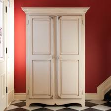 white armoire wardrobe bedroom furniture. Raised Panel Armoire In Antique White Wardrobe Bedroom Furniture