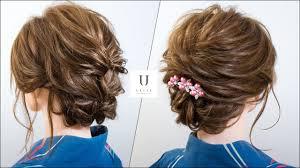 夏祭り花火大会を彩る浴衣の髪型ミディアムボブ ヘアアレンジ