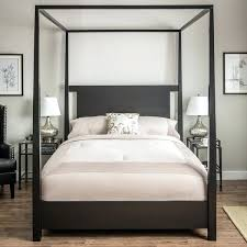 Black Canopy Bed Amazing Black Canopy Bed With Queen Size Black ...