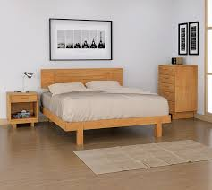 Loft platform bed Double Loft Platform Bed Sfreentrycom Natural Cherry Wood Platform Bed Modern Style Furniture American