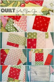 Quilt as you Go Holiday Mug Rugs & Learn how to quilt as you go- tutorial. Great for small sewing projects. Adamdwight.com
