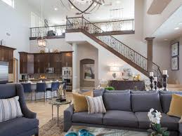 Two Story Living Room Decorating Drew And Jonathan Scotts Las Vegas Home Features A Large Two