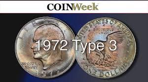 1972 Eisenhower Dollar Value Chart Coinweek The Three Types Of 1972 Eisenhower Dollar Video 6 06