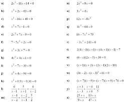 quadratic equation exercises questions tessshlo
