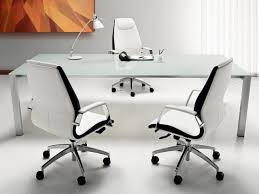 futuristic office furniture. minimalist futuristic office furniture with glasses table on the white seat modern ceramics d
