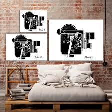 Industrial Art Machine Age Hipster Room Decor 8Mm Movie Inside Vintage Industrial  Wall Art (Image