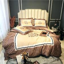 leopard print bedding set super soft cotton duvet cover flat sheet pillowcase comforter bed queen king image 0 leopard print duvet cover single