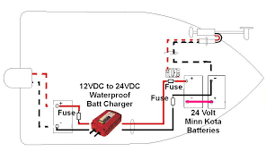 wiring diagram for minn kota 24 volt the wiring diagram sterling on board waterproof battery charger 12 volt dc to 24 wiring