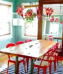 Colorful Dining Room Tables Simple Design