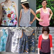 Grainline Patterns Cool 48 Top Ten Downloadable Patterns 48 Tiny Pocket Tank From