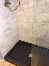 travertine subway tile shower. Modren Shower The Onyx Collection Shower Base  Color Thunder And Travertine Subway Tile  Beach House Bathroom And Subway Tile Shower