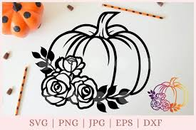 Here's a sneak peek of some of the awesome files you'll find in our halloween and fall designs bundle plus there's a free svg and dxf file waiting for you to download at the end of this post. Floral Pumpkin Svg Halloween Svg Fall Svg Autumn Svg 926400 Cut Files Design Bundles
