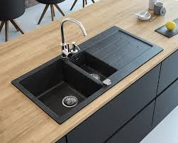 appealing black granite sink of how to clean white marks on a weilhammer