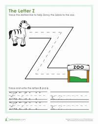 The Letter Z | Worksheet | Education.com