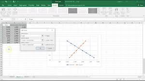 Supply And Demand Chart In Excel Econ Chart Supply And Demand Curves In Excel Youtube