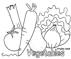 Printable Fruit And Vegetable Colouring Pages Printable Vegetable