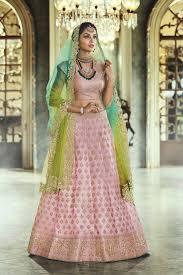 Light Pink Indian Wedding Dress Buy Light Pink Satin Silk Indian Wedding Lehenga In Uk Usa And Canada