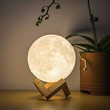BRIGHTWORLD <b>Moon Lamp</b> Moon Night Light <b>3D Printed</b> 4.7