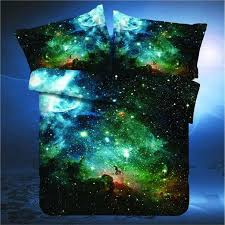 new hipster galaxy bedding set universe outer space themed galaxy print bed linen duvet cover flast sheet pillow case
