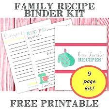 Recipe Binder Template Recipe Binder Template Download