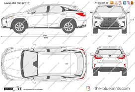 Lexus Rx 350 Vector Drawing