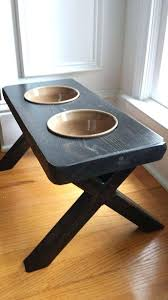 raised dog bowl holder stand rustic reclaimed by for the dogs bowls raising and stands uk