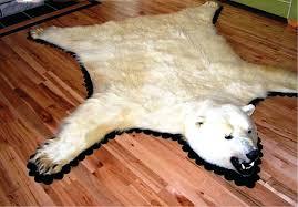 bear rug fake interior polar bear rug within com classic white sheepskin pelt shape throughout white bear