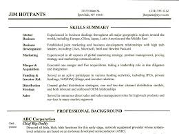 resume example for skills section skills section of resume examples foodcity me
