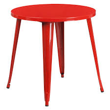 canfield 30 outdoor round dining table red