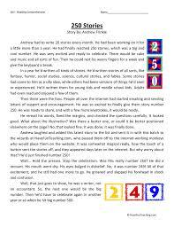 250 Stories Fourth Grade Reading Comprehension Test | Language ...