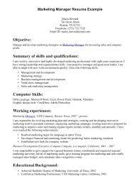 Marketing Resume Key Skills Sugarflesh