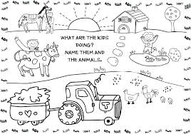 Farm Animals Coloring Pages Printable Farm Animal Coloring Pages