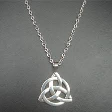 details about new triquetra celtic trinity knot necklace pendant jewellery irish gift wedding