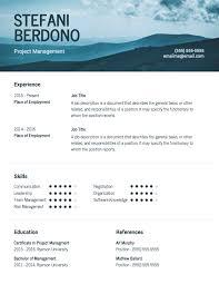 Modern Sleek Resume Templates Sleek Modern Resume