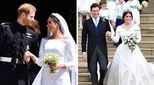 It comes of no surprise that prince harry's wife would chose to wear the designer. Meghan Markle And Princess Eugenie S Weddings Just Broke 2 Major Royal Family Records Purewow