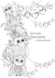 Owl Coloring Pages For Adults Pinterest Fails Christmas Owl Coloring