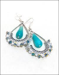 bohemian earrings aqua blue chandelier earrings drop dangle earrings silver light blue agate stone earrings natural