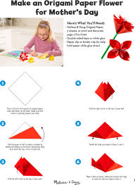 Paper Flower Folding Diy Origami Paper Flower For Mothers Day Melissa Doug Blog