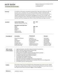Assistant Accountant Cv Sales And Purchase Ledger Cash Accounting Resume  Template